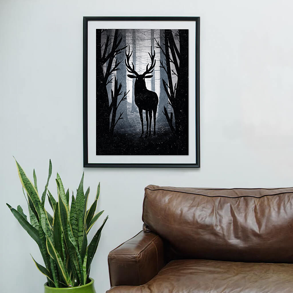 The king deer illustration art print | Indagatio
