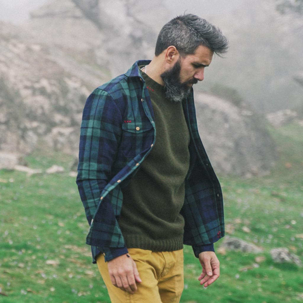 Vulpes vulpes flannel shirt jacket