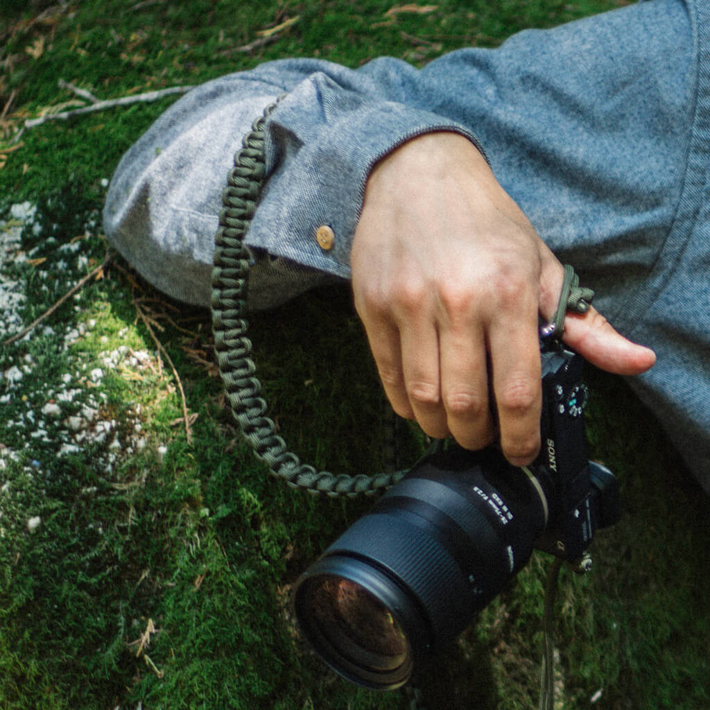 Handmade camera strap Capreolus capreolus in paracord. Handmade in Portugal. Welcome to the wolfpack.