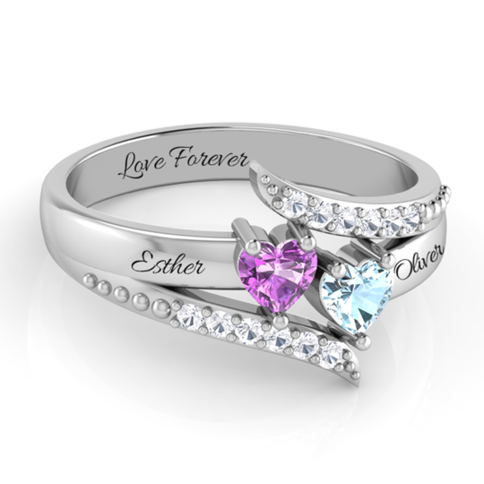 EXQUISITE DREAM HEART RING WITH DIAMOND ACCENTS