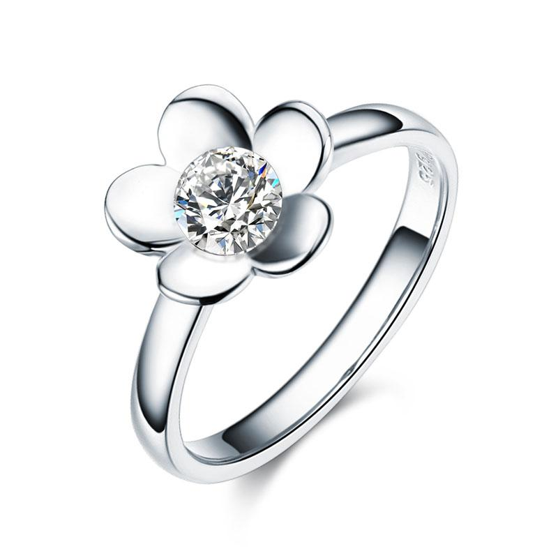 2-Pcs Butterfly Flower Ring Set