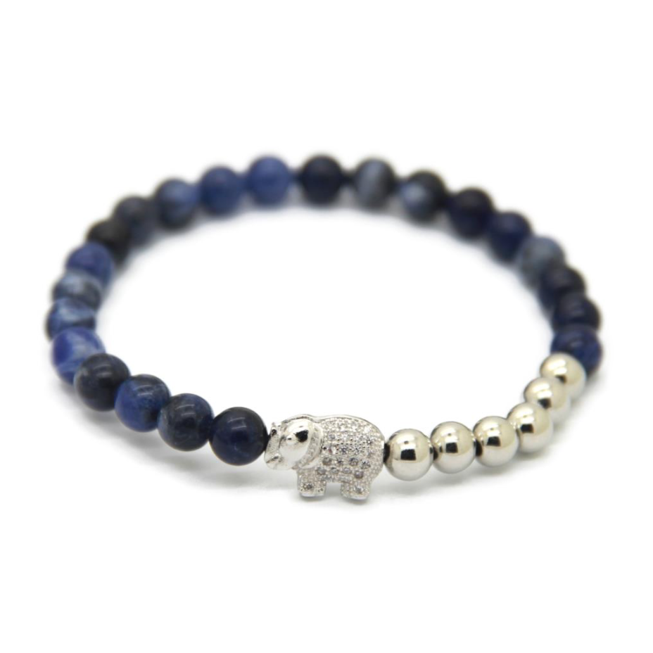 Moon Blue & Silver Good Luck Elephant *New Item Sale!*
