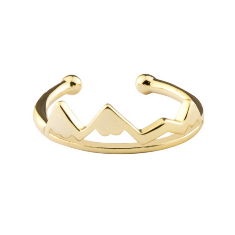 Gold High and Low mountain ring