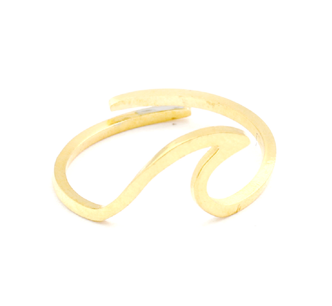 Dainty Gold Wave Ring