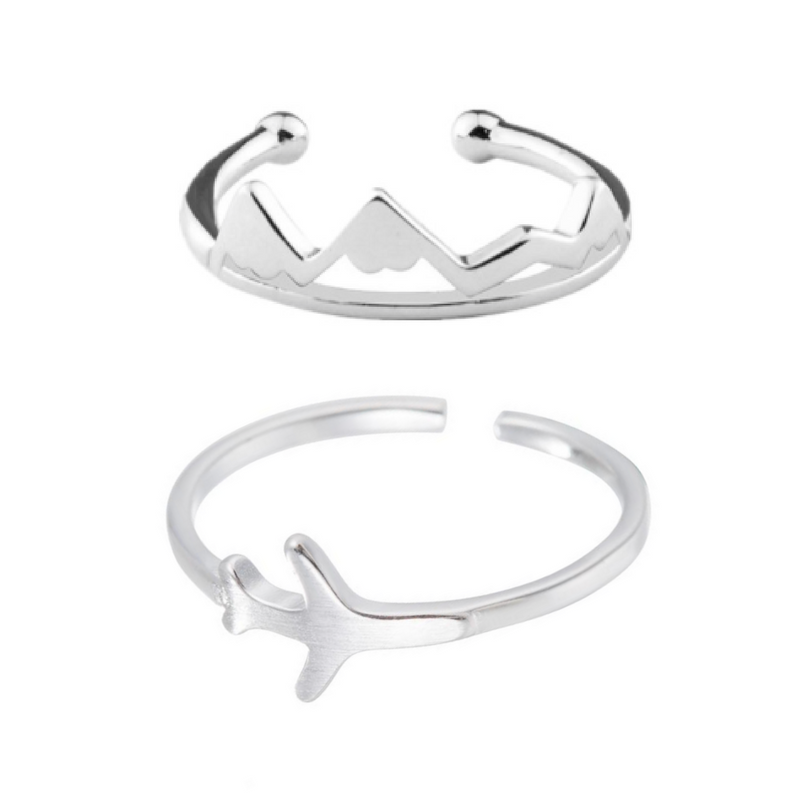 Be Free 2pc Ring Stack