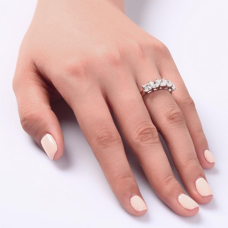 Princess Cut Five Stone Ring