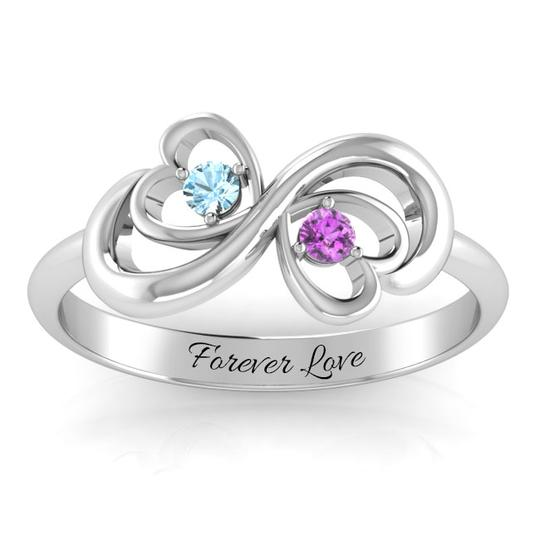 LOVE INFINITY HEART DUO RING