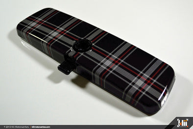 Klii Motorwerkes Interior Rear View Mirror Wrap - Mk6 Plaid (Universal)