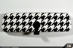 Interior Rear View Mirror Wrap - Houndstooth