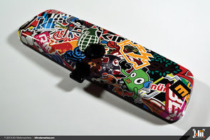 Klii Motorwerkes Interior Rear View Mirror Wrap - Stickerbomb #1 (Universal)