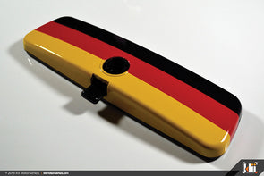 Klii Motorwerkes Interior Rear View Mirror Wrap - German Flag (Universal)