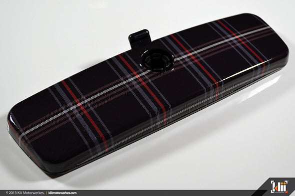 Klii Motorwerkes Interior Rear View Mirror Wrap - Mk5 Plaid (Universal)