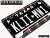 VW Volkswagen Premium License Plate Frame - Mk5 GTI Plaid