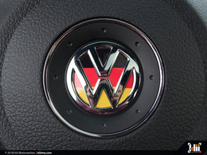 Klii Motorwerkes VW Steering Wheel Badge Insert - German Flag