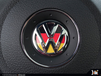 VW Steering Wheel Badge Insert - German Flag