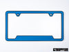 VW Volkswagen Premium License Plate Frame - Cornflower Blue (Black)