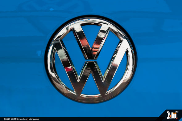 VW Rear Badge Insert - Cornflower Blue