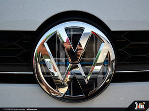 VW Front Badge Insert - Mk6 Blue Plaid