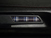 VW Seat Lever Insert Set - Mk6 Blue Plaid