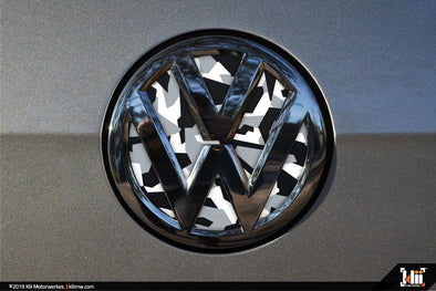 VW Rear Badge Insert - Arctic Abstract Camo