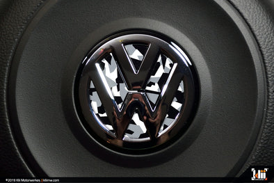 VW Steering Wheel Badge Insert - Arctic Abstract Camo