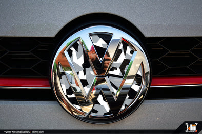 VW Front Badge Insert - Arctic Abstract Camo