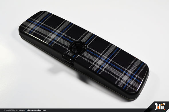 VW Rear View Mirror Overlay - MkVI (Mk6) TDI Plaid