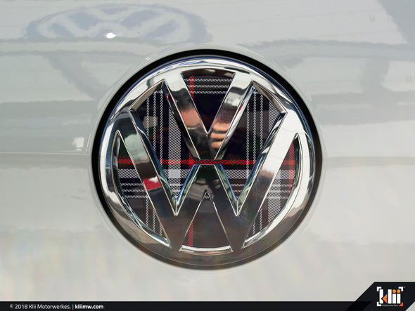 VW Rear Badge Insert - Mk7 GTI Plaid