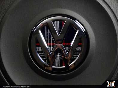 Klii Motorwerkes VW Steering Wheel Badge Insert - Mk7 GTI Plaid