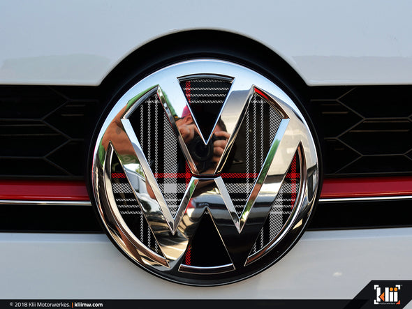 VW Front Badge Insert - Mk7 GTI Plaid