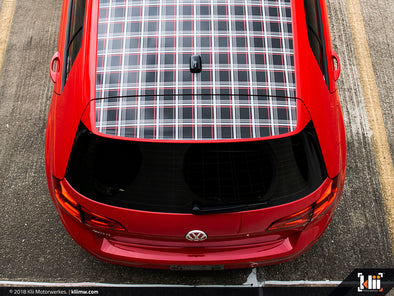 VW Roof Wrap - Mk7 GTI Plaid