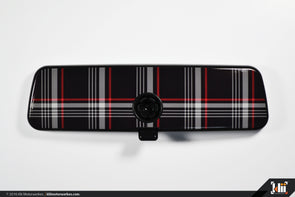 VW Rear View Mirror Overlay - MkVII (Mk7) GTI Plaid