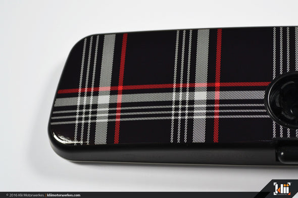 Klii Motorwerkes VW Rear View Mirror Overlay - MkVII (Mk7) GTI Plaid
