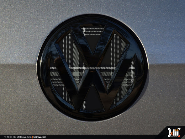 VW Rear Badge Insert - Mk7 GTD Plaid