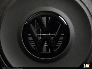 VW Steering Wheel Badge Insert - Mk7 GTD Plaid