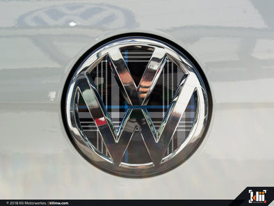 VW Rear Badge Insert - Mk7 Blue Plaid