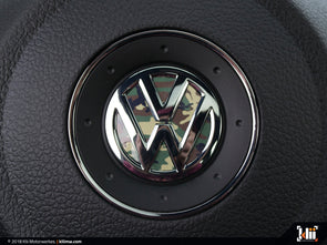 VW Steering Wheel Badge Insert - Woodland Camo