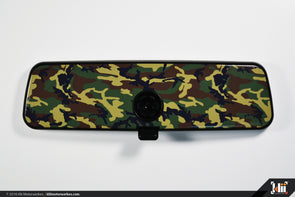 VW Rear View Mirror Overlay - Woodland Camo