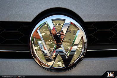 VW Front Badge Insert - OCP Camo