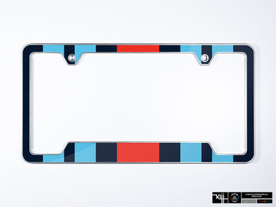 Martini Premium License Plate Frame - Racing Livery No.2 (Silver)
