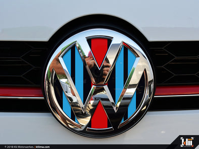 VW Front Badge Insert - Racing Livery No.2