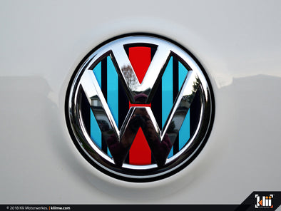 Klii Motorwerkes VW Rear Badge Insert - Racing Livery No.2