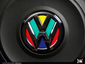 VW Steering Wheel Badge Insert - Harlequin
