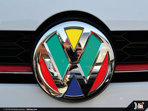VW Front Badge Insert - Harlequin