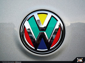 Klii Motorwerkes VW Rear Badge Insert - Harlequin
