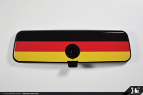 VW Rear View Mirror Overlay - German Flag