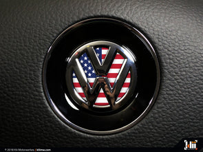 Klii Motorwerkes VW Steering Wheel Badge Insert - American Flag