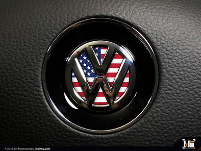 VW Steering Wheel Badge Insert - American Flag