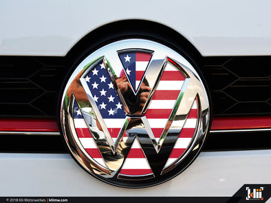 VW Front Badge Insert - American Flag