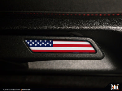 Seat Lever Inlay - American Flag